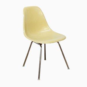 Sedia DSS-H vintage in fibra di vetro giallo lime di Charles & Ray Eames per Vitra