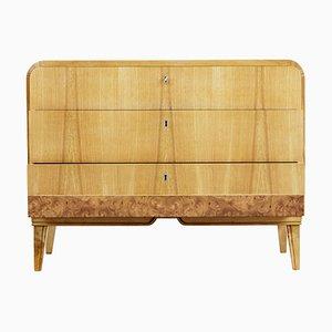 Vintage Art Deco Elm & Veneer Dresser, 1930s
