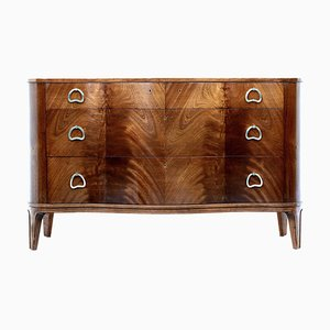 Brass and Mahogany Dresser by Axel Larsson for Bodafors, 1950s