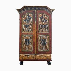 Alacena rústica antigua de pintura y madera