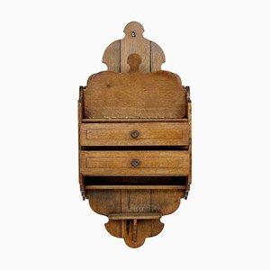 Antique Scandinavian Arts & Crafts Oak Wall Unit