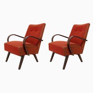 Mid-Century Lounge Chairs by Jaroslav Smidek, 1960s, Set of 2