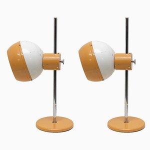 Lámparas de escritorio era espacial de Drukov, años 70. Juego de 2
