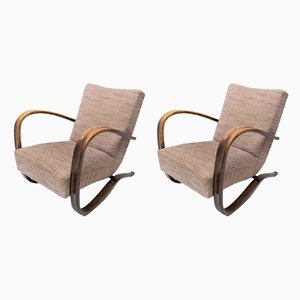 Art Deco H-269 Armchairs by Jindřich Halabala, 1940s, Set of 2