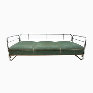 Bauhaus Chrome Plating and Tubular Steel Sofa, 1930s