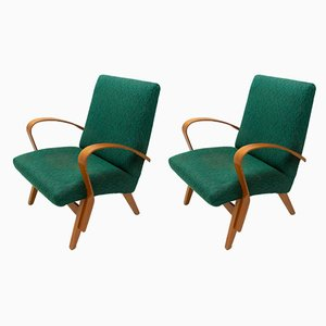 Mid-Century Sessel mit Gestell aus Bugholz von Tatra, 2er Set