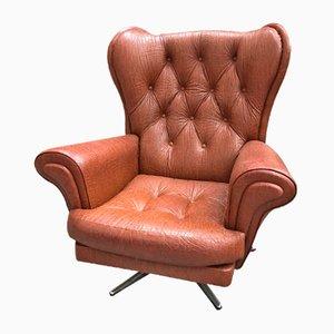 Moderner skandinavischer Kunstleder-Sessel, 1970er