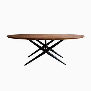 Table Basse Ovalette en Bouleau par Ilmari Tapiovaara pour Asko, 1950s