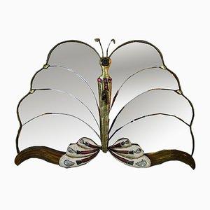 Espejo Butterfly francés vintage, años 70