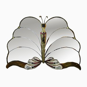 Vintage French Butterfly Mirror, 1970s
