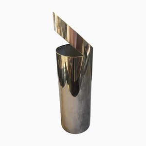 Modernist Italian Silver Plated Vase by Paolo Gatti, 1970s