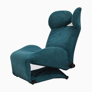 Petrol Wink Lounge Chair by Toshiyuki Kita for Cassina, 1980s