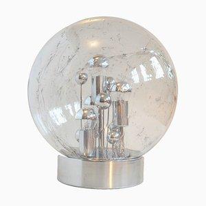 Lampada da tavolo in vetro a bolle di Tom Robertson per Doria Leuchten, anni '70