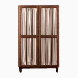 Mid-Century German Walnut Wardrobe, 1950s