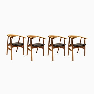 Model GE525 Danish Dining Chairs by Hans J. Wegner for Getama, 1960s, Set of 4