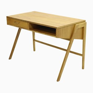 Birch and Veneer Desk by Coen de Vries for Everest, 1950s