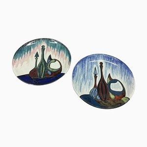 Italian Ceramic Mural Plates from Ceramiche Ariston, 1960s, Set of 2