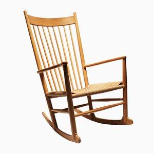 Scandinavian Modern Danish J16 Rocking Chair by Hans J. Wegner for Fredericia, 1960s