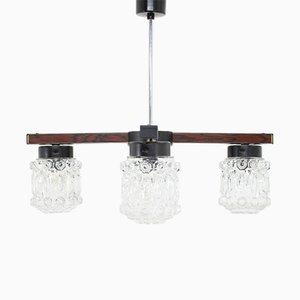 Lámpara de araña vintage de vidrio, años 70