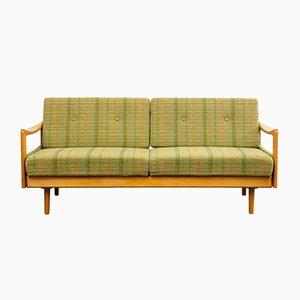 Sofá cama Mid-Century de haya, años 60