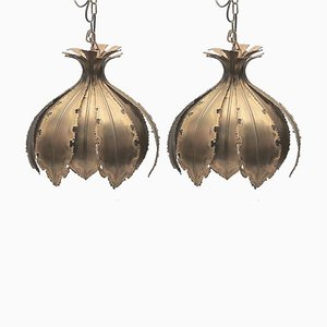 Model 6395 Onion Brass Pendants by Sven Aage Holm Sørensen, 1960s, Set of 2