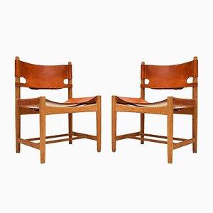 Dänische 3237 Esszimmerstühle von Børge Mogensen für Fredericia, 1960er, 2er Set