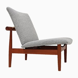 Danish 137 Japan Lounge Chair by Finn Juhl for France and Son, 1950s