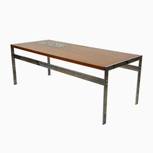 Table Basse en Teck et Céramique, 1960s