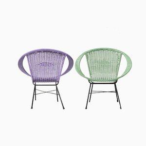 Midcentury Modern Italian Armchairs, 1960s, Set of 2