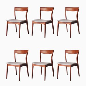 Mid-Century Modern Swedish Teak Dining Chairs, 1960s, Set of 6
