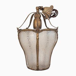Art Nouveau Style Italian Lantern, 1950s