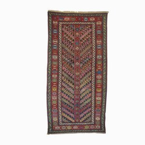 Antique Caucasian Genje Rug with Stripes