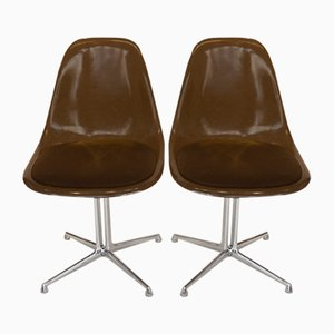 La Fonda Fiberglass Side Chairs by Charles & Ray Eames, 1970s, Set of 2
