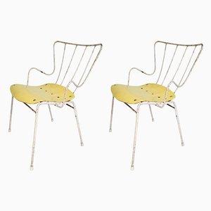 Antelope Stühle aus Eisen & Schichtholz von Ernest Race für Race Furniture, 1952, 2er Set