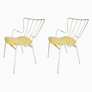 Iron & Plywood Side Antelope Chairs by Ernest Race for Race Furniture, 1952, Set of 2