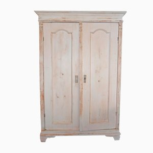 Antique Painted Wooden Wardrobe