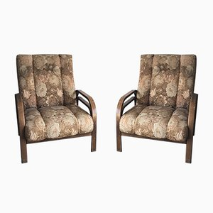 Vintage Art Deco Armchairs, 1930s, Set of 2