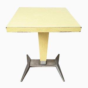 Tavolo da bistrò Mid-Century in alluminio e formica, Francia, anni '50