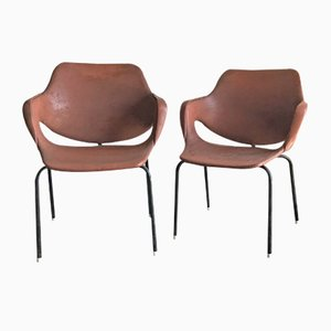 Mid-Century Leatherette Armchairs, 1960s, Set of 2