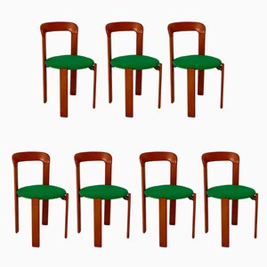 Vintage Dining Chairs by Bruno Rey for Dietiker, 1970s, Set of 7