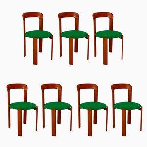Vintage Esszimmerstühle von Bruno Rey für Dietiker, 1970er, 7er Set
