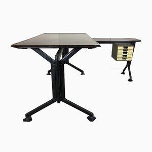 Moderner italienischer Schreibtisch aus Bakelit & Eisen von BBPR für Olivetti Synthesis, 1960er