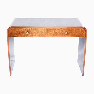 Vintage Art Deco French Satinwood Desk, 1930s