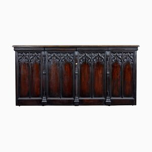 Antique Gothic Oak and Pine Buffet
