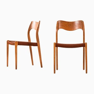 Model 71 Dining Chairs by Niels O. Møller for J.L Møllers, 1950s, Set of 6