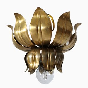Vintage Hand-Crafted Italian Brass Ceiling Lamp, 1970s