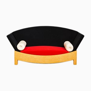 Italian Burl Wood Veneer Mitzi Sofa by Hans Hollein for Poltronova, 1981