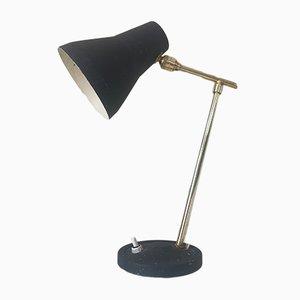 Lámpara de mesa francesa Mid-Century giratoria, años 60