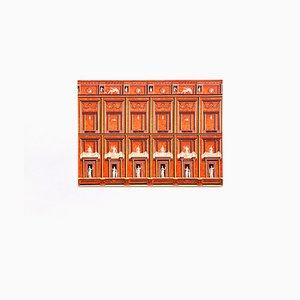 Italienische Pompeiana Briefmarke auf Stoffplatte von Atelier Fornasetti, 1950er