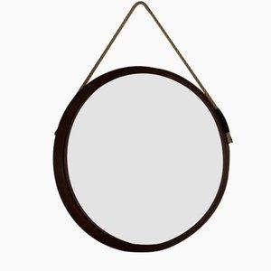 Italienischer Mid-Century Spiegel mit Rahmen aus Teak, 1950er